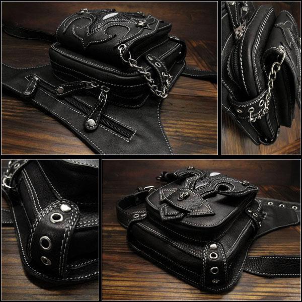 leather,biker waist,bag,fanny,pack,hip,belt,pouch,harley,motorcycle