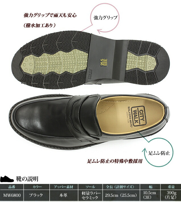 靴のスペック表