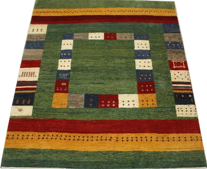 ペルシャギャベ ラグ カーペット ウール100% PG5660(Y) 約198×281cm ギャッベ絨毯