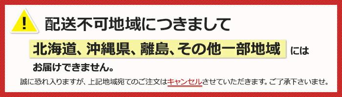 北海道・沖縄県・離島・その他一部地域には配送できません