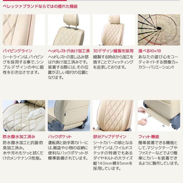 パイピングライン ヘッドレスト穴あけ加工済 3Dデザイン縫製を採用 選べる10×19 防水撥水加工済み バックポケット 部分アップデザイン フィット機能