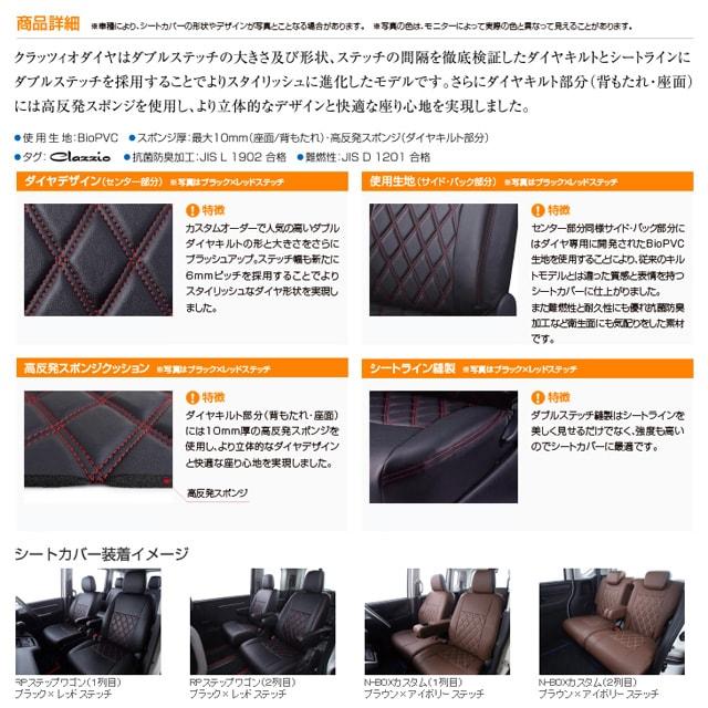 ダイヤキルトデザイン BioPVC 高反発スポンジクッション ダブルステッチ