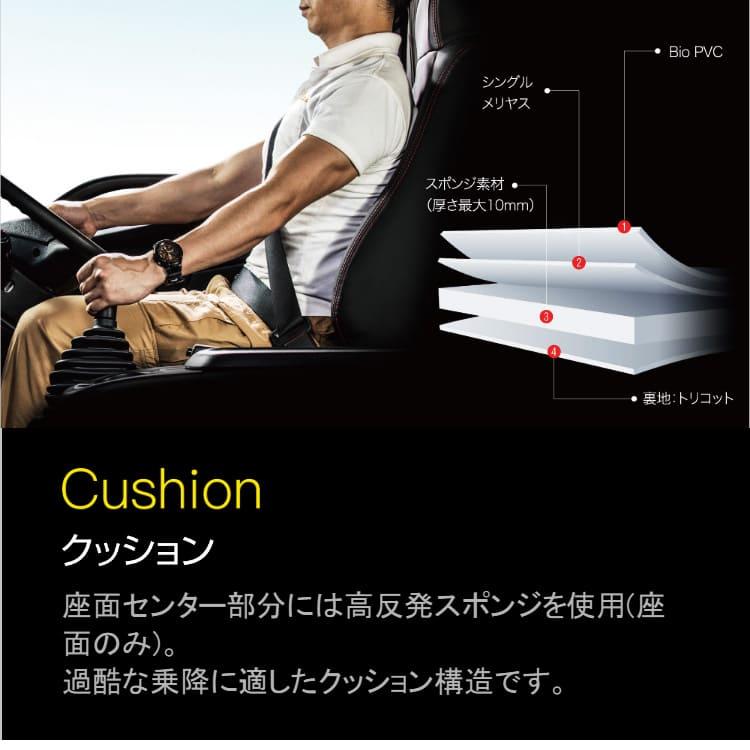 座面センター部分には高反発スポンジを使用(座面のみ)