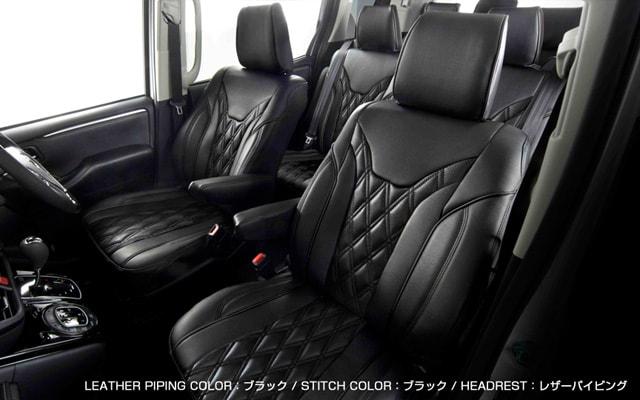 ブラック×ブラック オールブラック シートカバー装着例