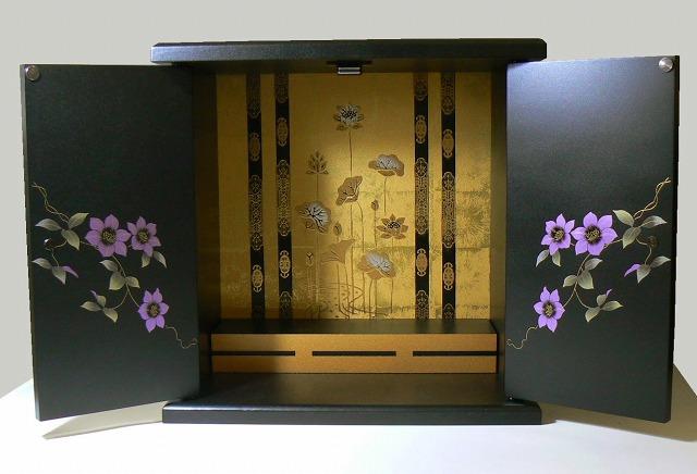 漆器調ミニ仏壇