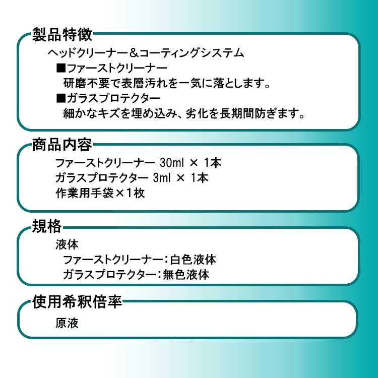 ヘッドライトコーティングシステムGHC-1 セット内容