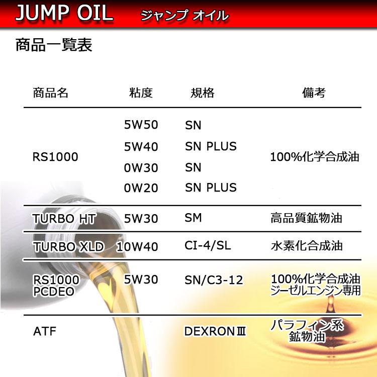 JUMPOIL商品一覧表 > <BR>エンジンオイル「JUMP OIL」(ジャンプオイル)の商品一覧 <BR>