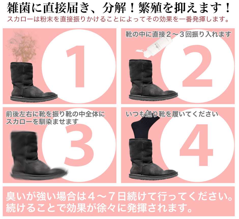 ご利用方法 靴 消臭 消臭剤 スカロー 野菜洗浄 送料無料 1位獲得