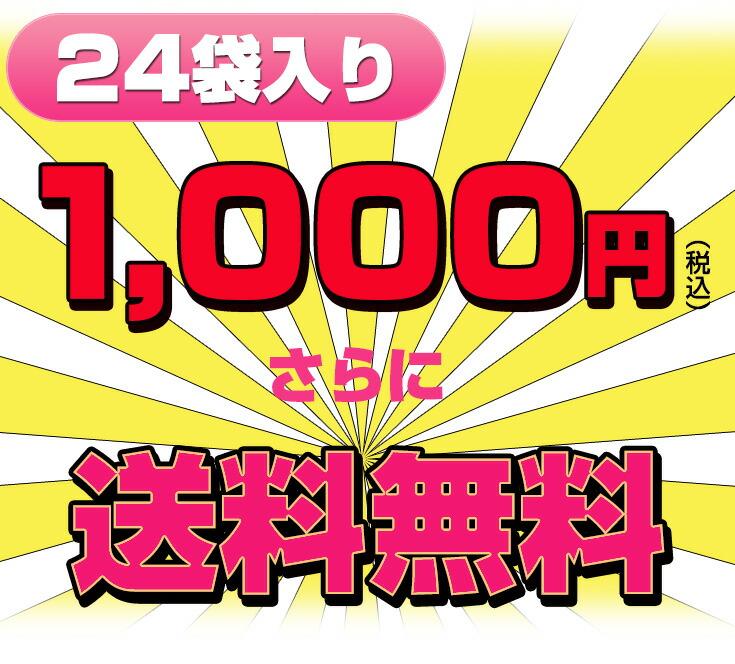 24袋入り1,000円(税込)さらに送料無料!!