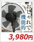 黒い扇風機 DR-A337BK