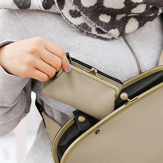 がま口キーコインケース【Sarei コーデュラ(R)Eco Fabric】