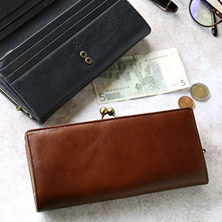 2 in がま口長財布【X_LEATHER WALLET(N)】