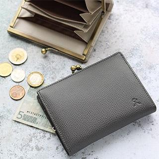 BOX型小銭入れ付がま口MINI財布【X_LEATHER WALLET(N)】