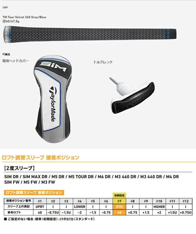 (納期約2~3週間)( 特注 )テーラーメイド taylormade SIM シム ドライバー エア スピーダー AIR Speeder シャフト メンズ 2020