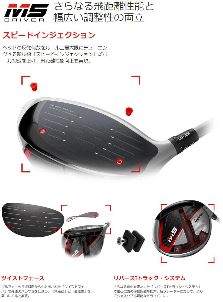 [2月中旬発送予定 日本正規品 予約販売] テーラーメイド M5ドライバー 三菱ケミカル クロカゲXD カーボンシャフトモデル
