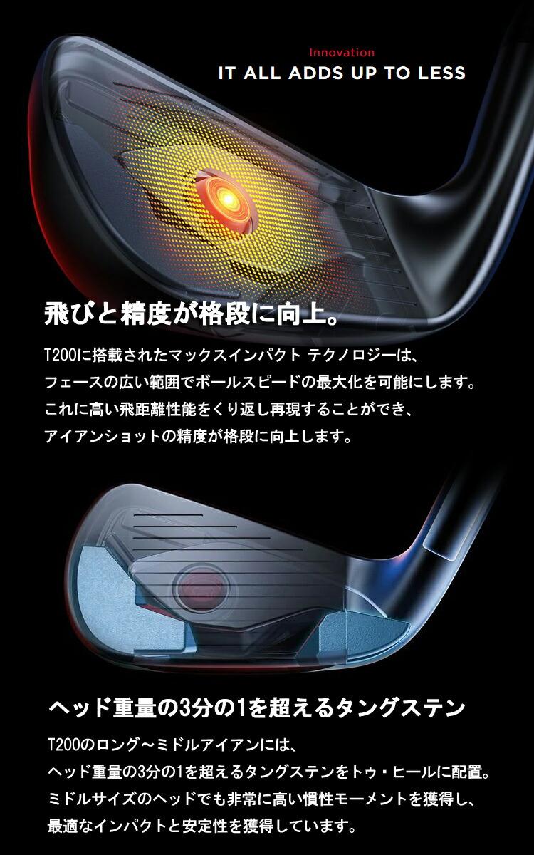 (特注品/納期約8週間)タイトリスト Tシリーズ アイアン T200 5本セット(#6-#9、P) ダイナミックゴールド【ゴルフクラブ】