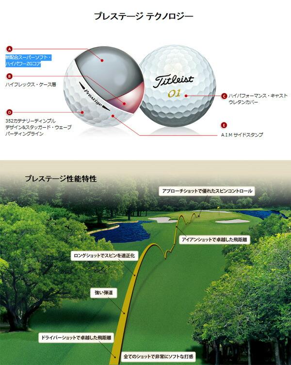【2016年継続品 即納】 タイトリスト ゴルフボール プレステージ 1ダース 12球入り [TITLEIST Prestige]