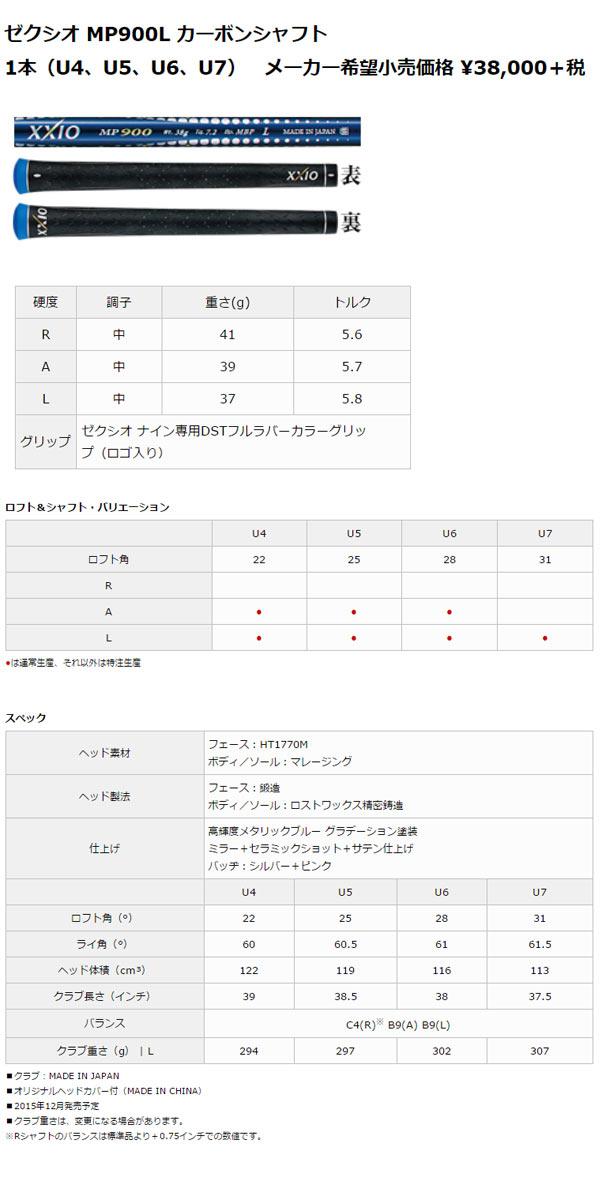 【特注品 カラーカスタム:ボルドー 完成品 送料無料】ダンロップ ゼクシオ9 ユーティリティ MP900L カーボンシャフト
