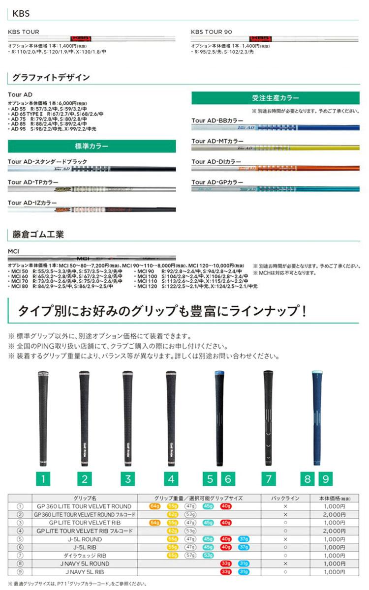 特注 ピンゴルフ i500アイアン 5本セット(6I-PW)  ツアーAD スタンダードブラック カーボンシャフト(PING)