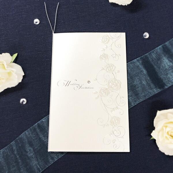 ノーブルローズ招待状セット【印刷なし・手作りキット】