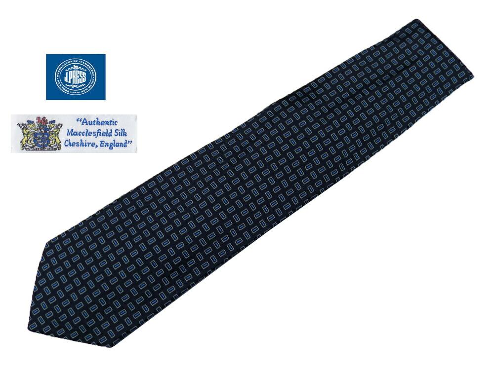 0cff7f5d6e J.PRESS×MACCLESFIELD SILK 日本製 100% ランバン BOX小紋· ·J · 紺 ...