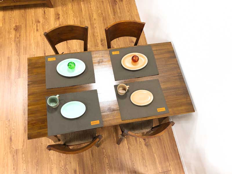 チーク コルベッティ ダイニングテーブル 1350