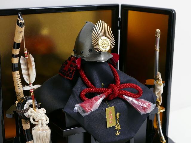 織田信長公10号南蛮桃形兜飾り 雄山作 五月人形 兜平飾り