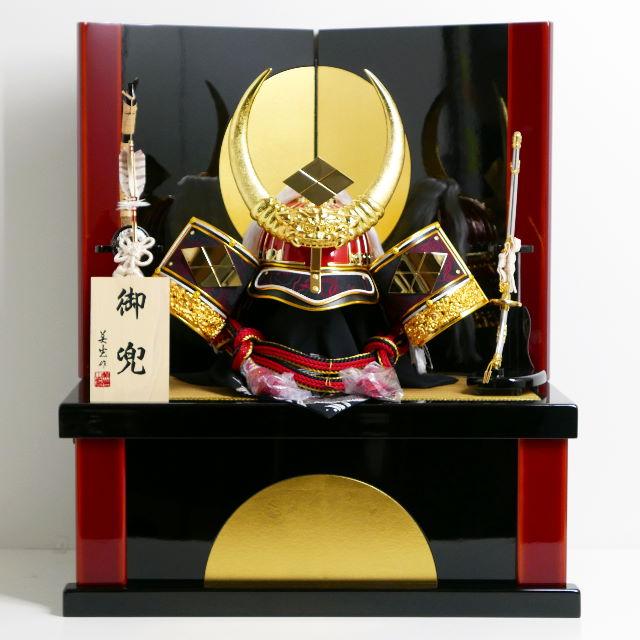武田信玄公着用諏訪法性兜満月収納飾り 着用 五月人形 兜飾り 収納兜 兜収納飾り