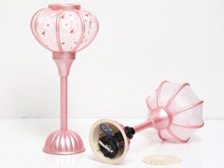 雛人形木目込人形飾りのピンク雪洞