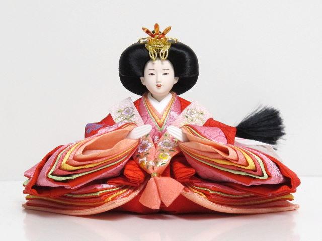 雛人形|雛|ひな人形|五人飾り|五人||お雛様|おひな様|赤と紫衣装のなでしこ柄ひな人形