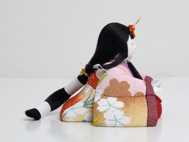 【雛人形 コンパクト収納飾り】【ひな人形 木目込み】春らしく桜をイメージした衣装の五人揃いローズピンク収納桜木目込人形飾り[雛人形 木目込人形飾り][木目込み人形 ひな人形][かわいい コンパクト収納飾り][五人飾り 5人][お雛様 送料無料]