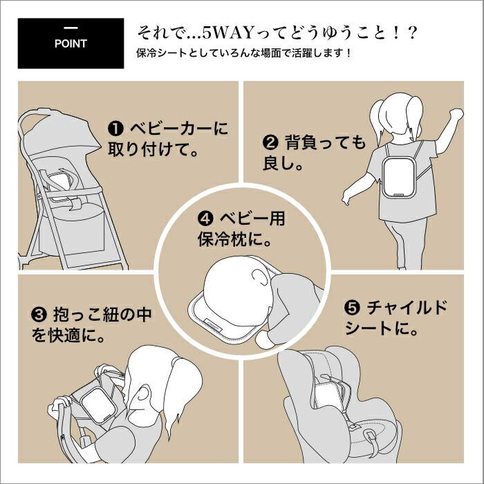抱っこ紐 保冷 シート ベビー用 保冷枕 エルゴベビー だっこ