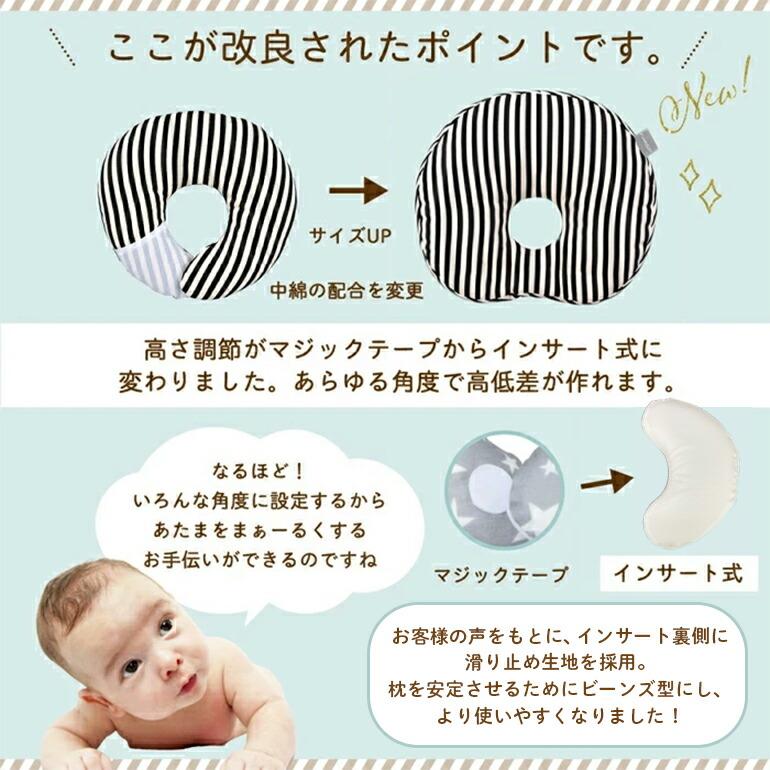 赤ちゃん ドーナツ枕 どーなつまくら エスメラルダ 絶壁 子供 まくら 枕 洗えるまくら 洗える枕