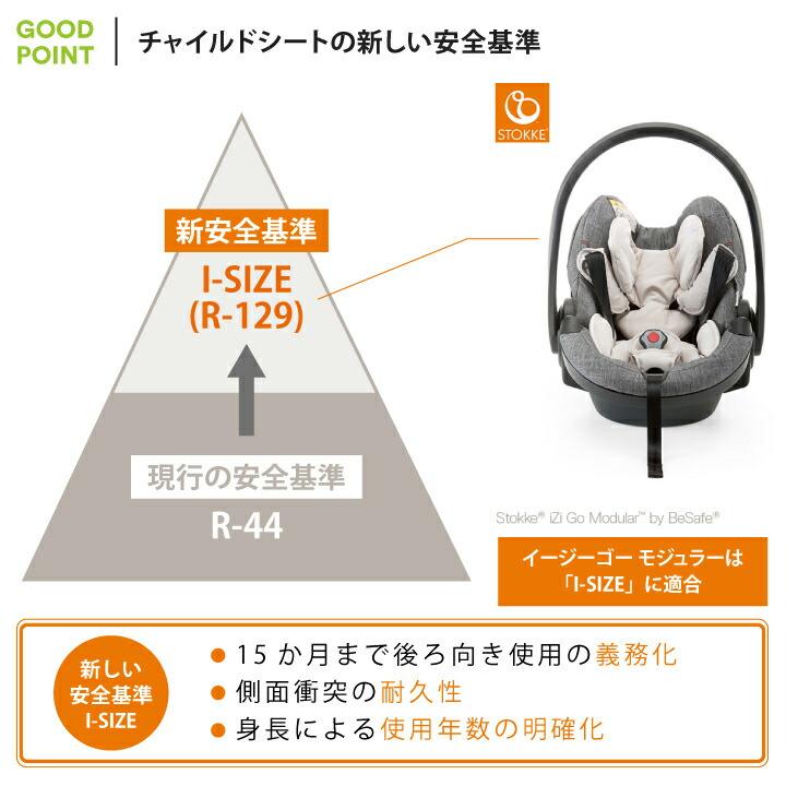 STOKKE(ストッケ) イージーゴー モジュラー byビーセーフチャイルドシートの新しい安全基準