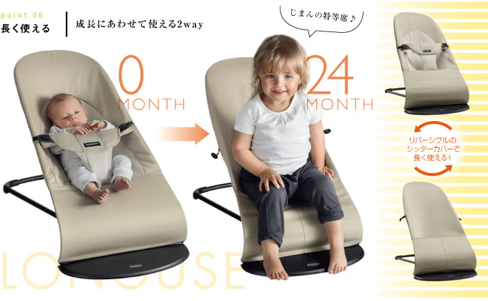 ab525a5b4c5 Baby Bjorn bouncer balance soft seat cover is reversible. Walking up to the  belt and start walking