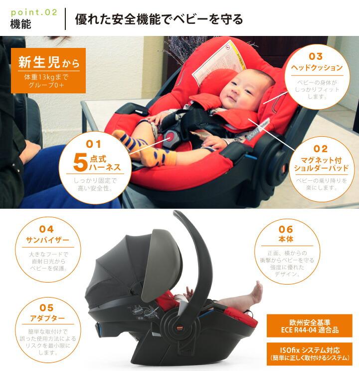 STOKKE(ストッケ) iZi Go X1(イージーゴー エックスワン) by BeSafe 優れた安全性 衝撃を軽減 身体にフィットするクッションシート