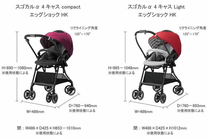 コンビ ホワイトレーベル スゴカルα 4キャス compact エッグショック HK サイズ
