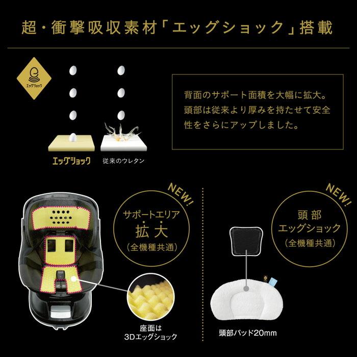 クルムーヴスマート ISOFIX エッグショック JJ-650 Ltd 特徴