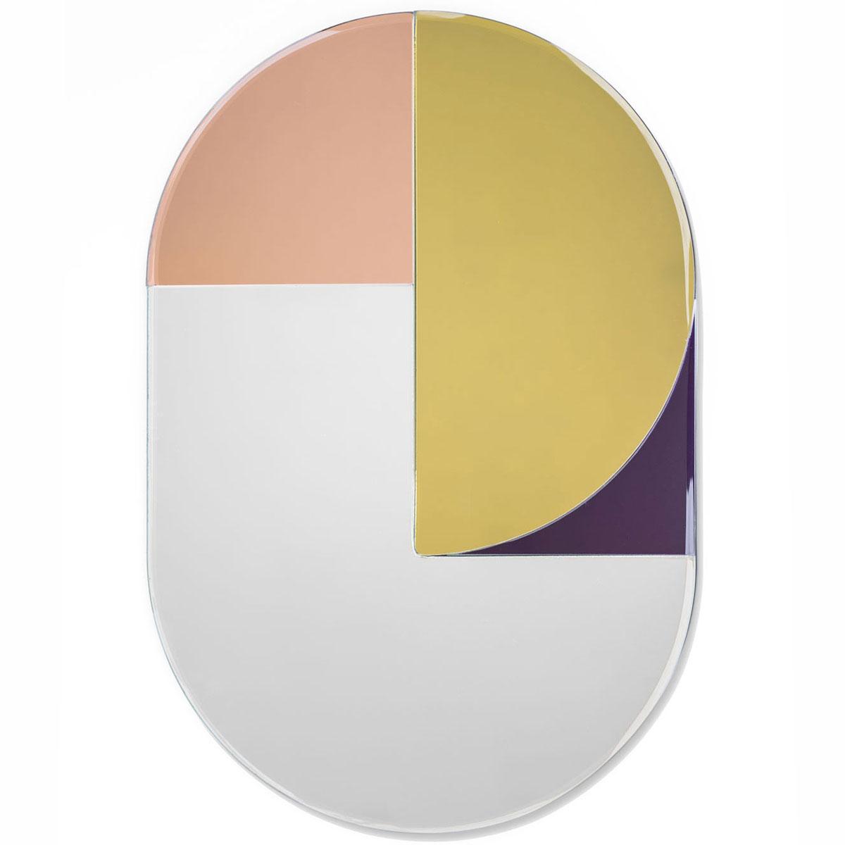 ミラー アマブロ COLOR MIRROR オブジェのように美しいスタイル! おしゃれ 壁掛け 鏡 amabro カラーミラー ラウンド
