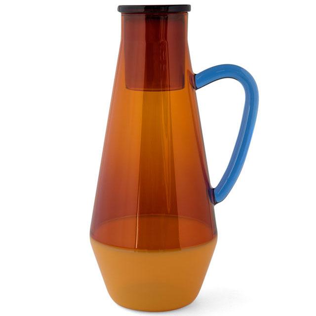 ピッチャー アマブロ TWO TONE CARAFE 同シリーズのマグカップもあります! 耐熱ガラス 水差し カラフェ デキャンタ amabro ツートーンカラフェ アンバー