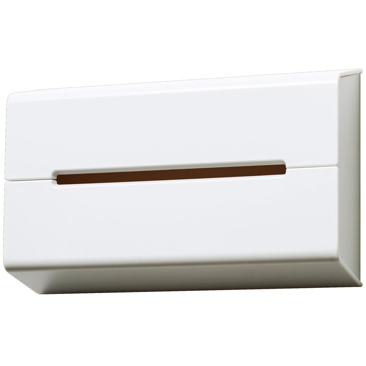 ティッシュケース イデアコ WALL 壁掛けティッシュケース 壁に取り付けて便利に使える! 人気 オシャレ ティッシュカバー ティッシュボックス ideaco ウォール ホワイト