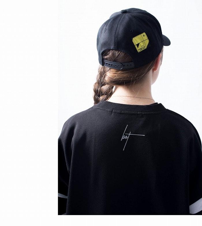 backside of tokyo バックサイドオブトーキョー キャップ ラインキャップ 三本ライン ロゴ 刺繍 モノトーン ストリート カジュアル スポーツ