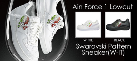 Ain Force 1 Lowcut 2 Swarovski Pattern(W-IT)