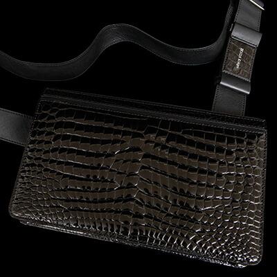 【池田工芸】日本最大のクロコダイル専門店が贈るAll Crocodile Messeger Bag(オールクロコダイルメッセンジャーバッグ)C5105-2【4月21日頃出荷】