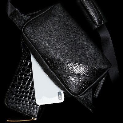 【池田工芸】日本最大のクロコダイル専門店が贈るCrocodile Body Bag(クロコダイル ボディバッグ)【3月10日頃出荷】