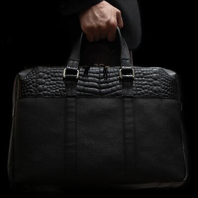 【池田工芸】日本最大のクロコダイル専門店が贈るCrocodile Brief Bag(クロコダイル ブリーフバッグ)【11月20日頃出荷】