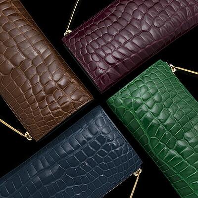 【池田工芸】日本最大のクロコダイル専門店が贈るCrocodile L wallet(クロコダイル L字ロングウォレット)L字財布 長財布カラー