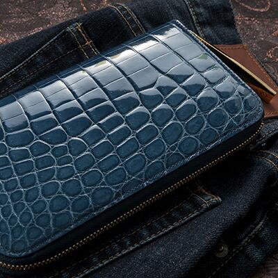 【池田工芸】日本最大のクロコダイル専門店が贈るCrocodile Longwallet(クロコダイル ロングウォレット)カラー