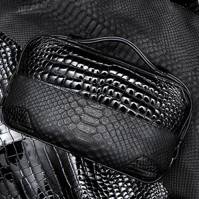 【池田工芸】日本最大のクロコダイル専門店が贈るCrocodile Python B.B.B. BuddyBostonBag(クロコダイルパイソン バディボストンバッグ)【7月30日頃出荷】