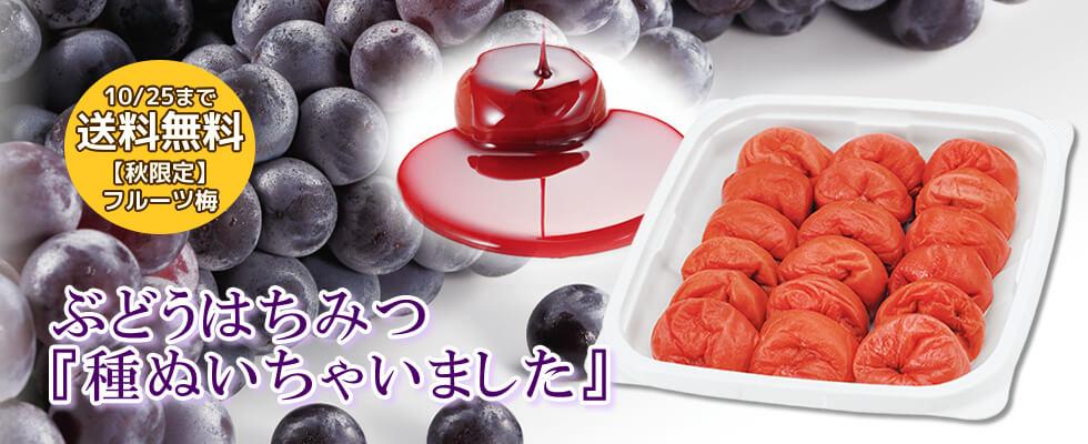【秋限定】種ぬきぶどう梅